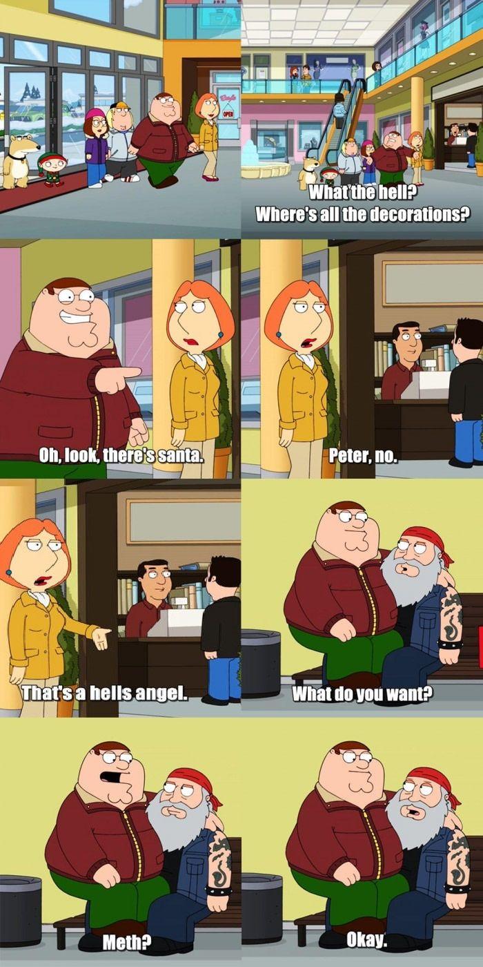Thanks Santa Family Guy Quotes Family Guy Funny Funny Memes