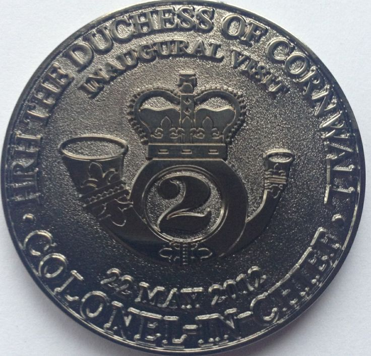 HRH The Duchess of Cornwall Inaugural Visit to The Queen's Own Rifles of Canada 22 May 2012 Colonel-In-Chief Commemorative Coin.