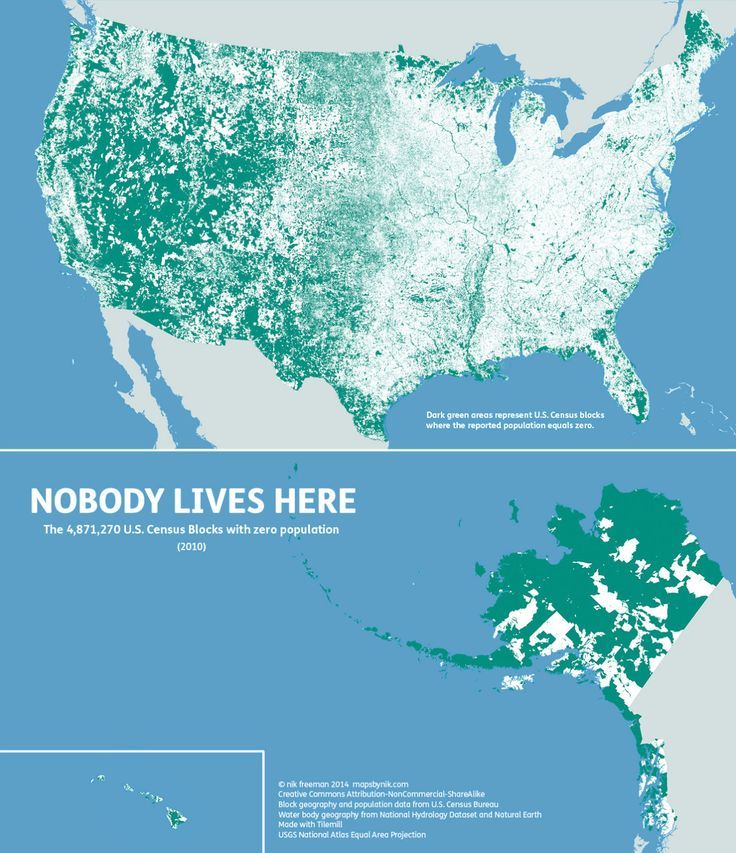 This Map Shows Where Nobody Lives In The Us Infographic