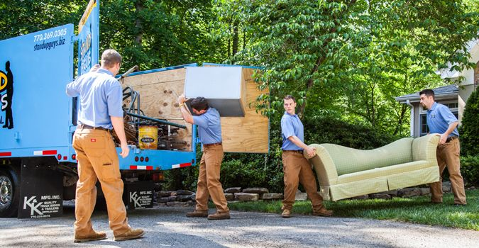 Are you looking for a Junk Hauling Experts? Call stand up guys (813) 512-0480 or drop by at 907 W. Kennedy Blvd Tampa, FL 33606. #FurnitureRemoval
