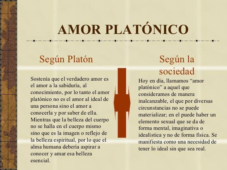 Viviendo el amor al estilo Platón, no es platónico, es real y al alcance.