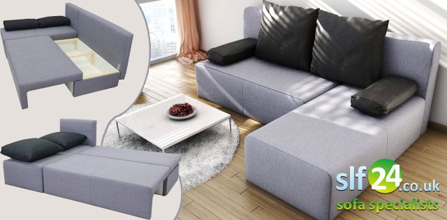 Novel Corner Sofa Bed Fabric
