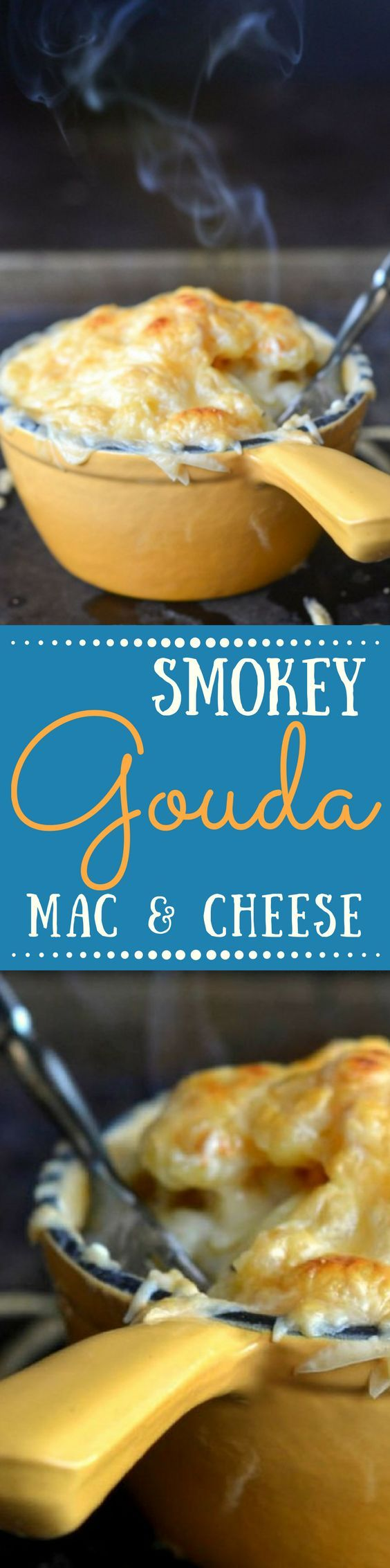 Smoked Gouda Mac & Cheese takes everybody's favorite comfort food up a notch ~ this easy and delicious meal can be on the table in under an hour! ~ theviewfromgreatisland.com