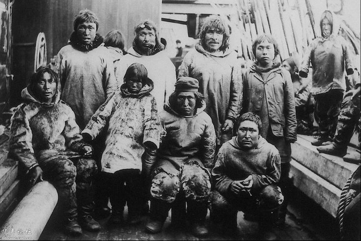 Inuit, Erik Cove, Quebec, 1904; photo J.D. Moodie, no names