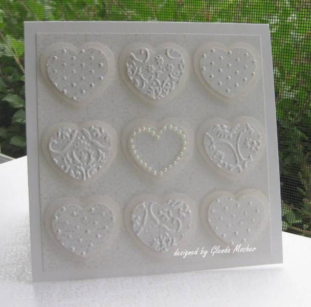 Hearts Wedding Card by RobinRingtail -  at Splitcoaststampers