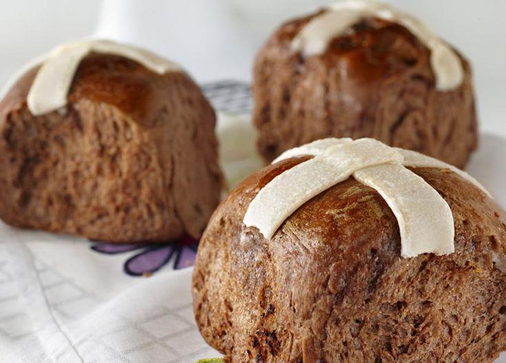 KitchenAid Stand Mixer recipe - Chocolate hot cross buns