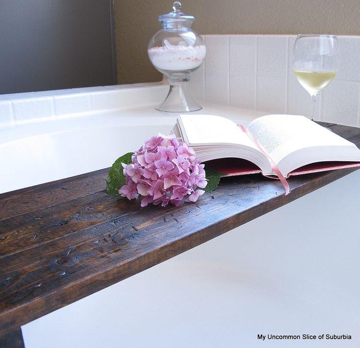 tutorial to make a bathub shelf... oh yes please!!!
