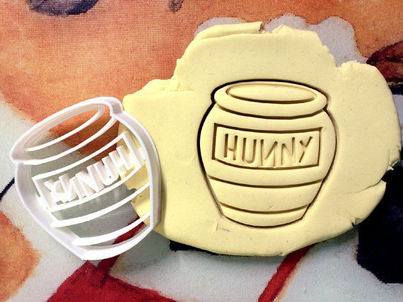 Winnie the Pooh Honey Pot Cookie Cutter great for cutting Bread, Cheese, Soft fruit and more
