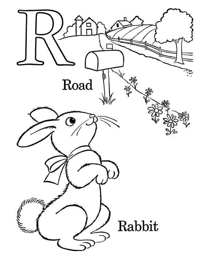 alphabet coloring pages letter r - Preschool Alphabet Coloring Pages