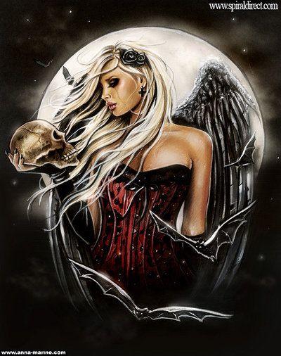 Angel of death for Spiral back design by Anna-Marine.deviantart.com on @deviantART