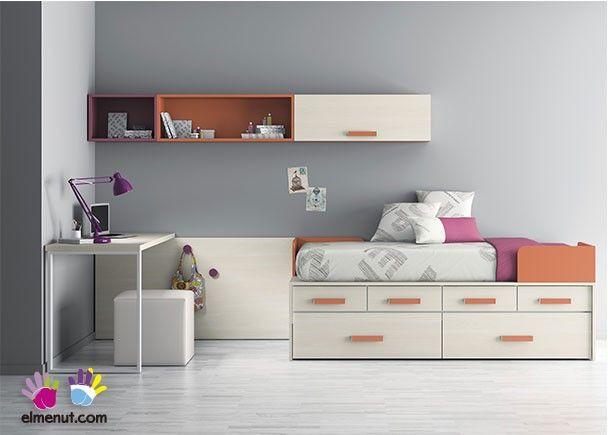 327 best images about dormitorios juveniles on pinterest for Dormitorio juvenil compacto