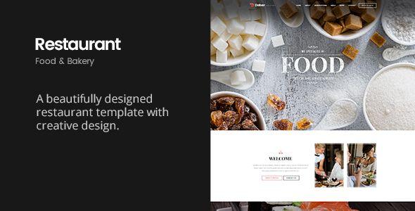 Deliver Restaurant | Food & Restaurant HTML Template. Full view: https://themeforest.net/item/deliver-restaurant-food-restaurant-html-template/16728376?ref=thanhdesign