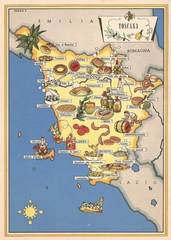 Tuscany food Map
