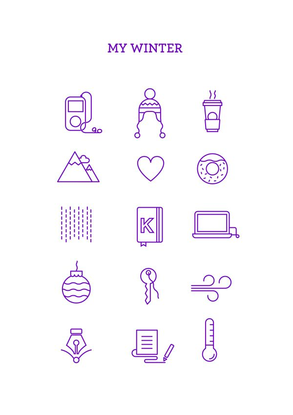 MY WINTER ICONS by Alejandra Riera Mora, via Behance