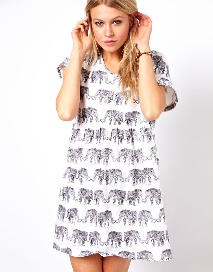 Elephant smock dress!