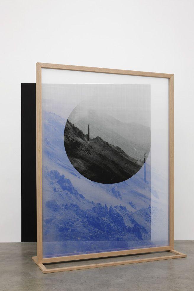 Fading Field N.2.  by ELENA DAMIANI . Digital print on silk chiffon. 2012