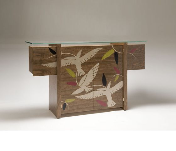 Marquetry as Decorative Ornament…! ArtisphereOnline - Decorative Painting Magazine: a take on marquetry in modern design, using woodgraining as your tool