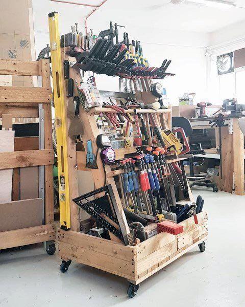 Diy Garage Storage Favorite Plans: Top 80 Best Tool Storage Ideas