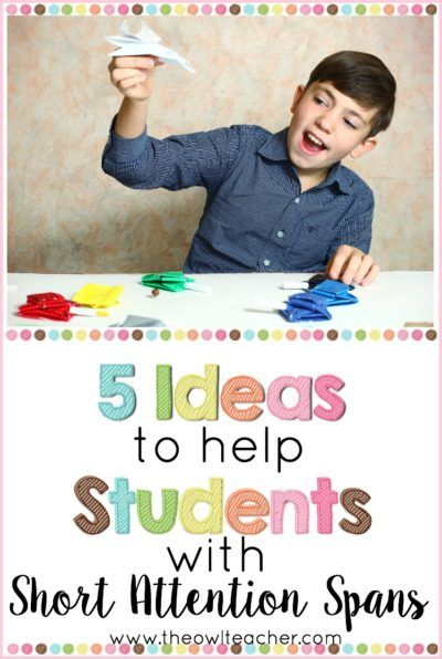 I know you have students with short attention spans in your class, so how are you supporting them? Our students with ADD or ADHD need special support to help them succeed, so this post outlines five ways that you can help meet the needs of your students w