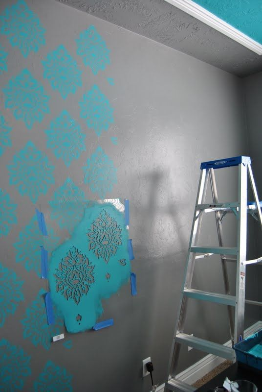 {simply sadie jane}: stencil paint...love this!!! Want to stencil the wall you see when you walk in my front door.