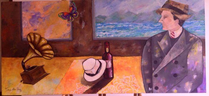 Carmen Alicia Navarro  Acrilico sobre lienzo y espatula