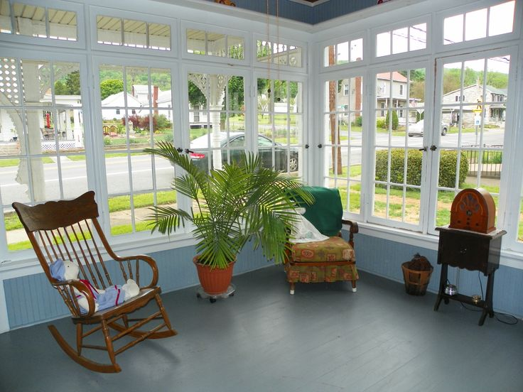 This Is Our Enclosed Porch.