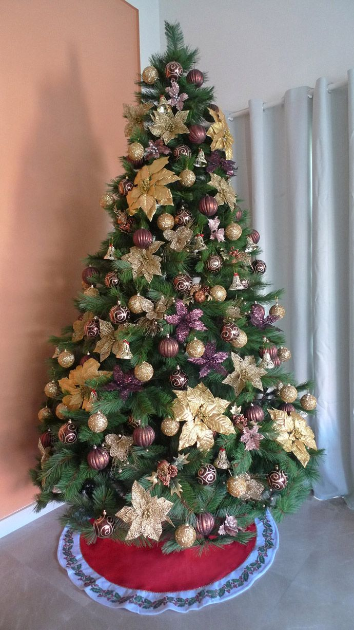 30 vibrant purple christmas decorations - Purple And Gold Christmas Tree Decorations