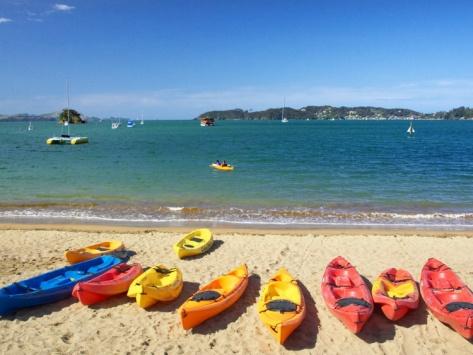 Kayaks, Paihia, Northland, New Zealand