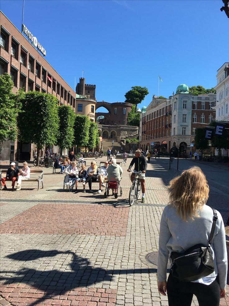 Juni 2016. Helsingborg. Cathrine og jeg tog til Helsingør og tog færgen over til Sverige.