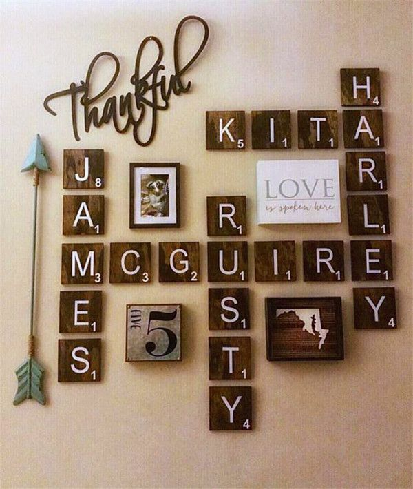 12 Fantastic Ideas For Your Wall Decor Binezr Scrabble Wall Decor Scrabble Wall Easy Home Decor