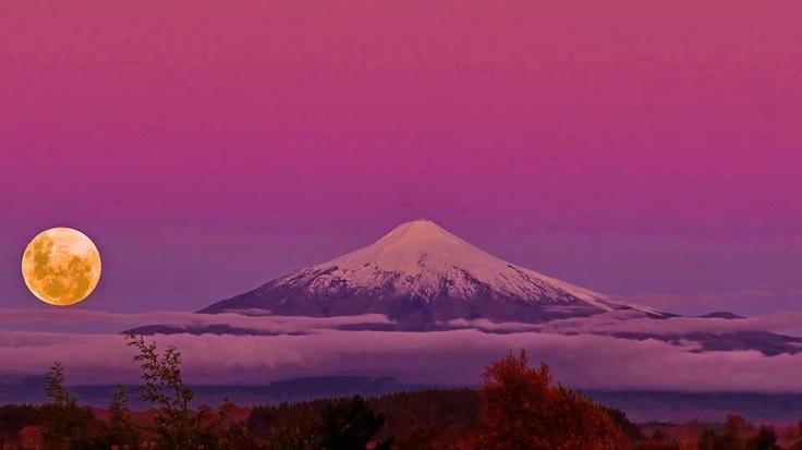 Twitter / Earth_Pics: Atardecer Villarrica, Araucania, ...