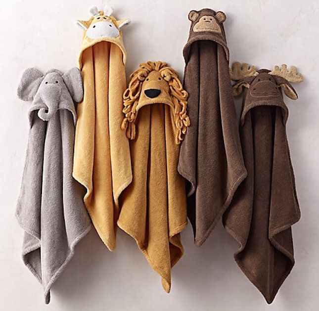 How cute are these hooded animal towels?
