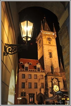 Town Hall with Astronomical Clock on Prague  Old Town Square