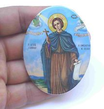 Greece Saint JOHN The RUSSIAN CONFESSOR Small Vintage Icon on Metal 2 x 3'' NEW