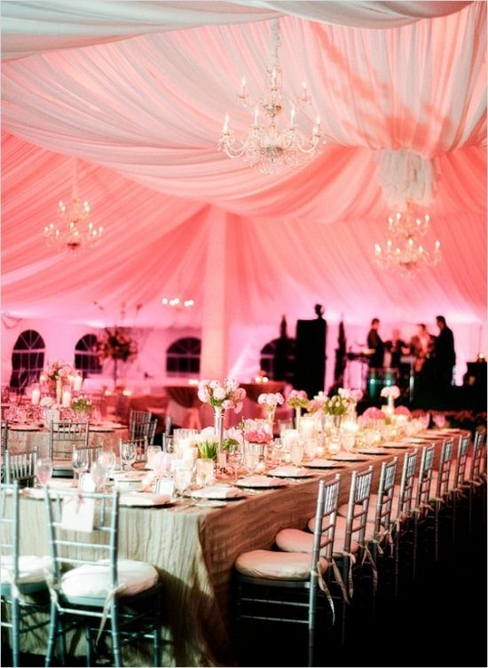 312 best images about pink uplighting on pinterest for Diy wedding reception lighting