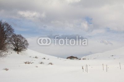 Mountain chalet with snow. #Winter #Chalet #mountain #snow #snowy #landscape #nature #apennines #trip
