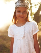 Broderie Dress  Elegant #Dresses for #Stylish Little #Girls
