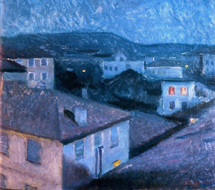 Edvard Munch (1863-1944) - 1891, Night in Nice