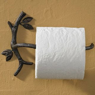 Natures Walk Toilet Paper Holder - Eclectic - Toilet Accessories - atlanta - by Iron Accents