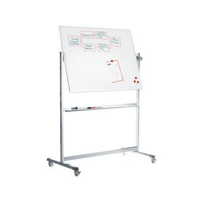 Peter Pepper Stand Alone Revolvin Magnetic Free-Standing Whiteboard, 6' H x 7' W