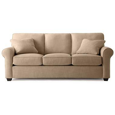 Fabric Possibilities Roll Arm Queen Sleeper Sofa Queen