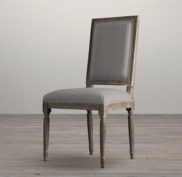 Restoration Hardware Florida: Vintage French Square Back Fabric Side Chair