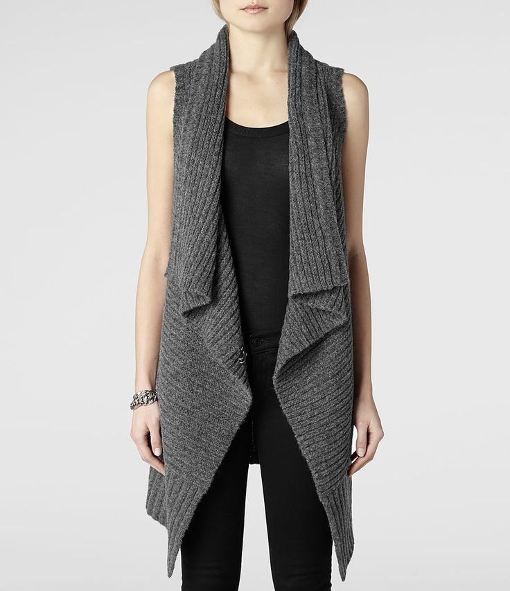 Knitting Vest For Women : Best images about knitted sleeveless tunics and