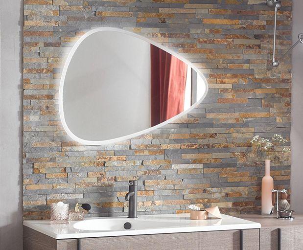 Disponible Chez Richardson Chambery 73 Accueil Chambery Richardson Fr Miroir Asymetrique Bo Lighted Bathroom Mirror Round Mirror Bathroom Bathroom Mirror