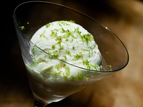 Kaffir Lime and Gin Ice Cream. What a recipe!