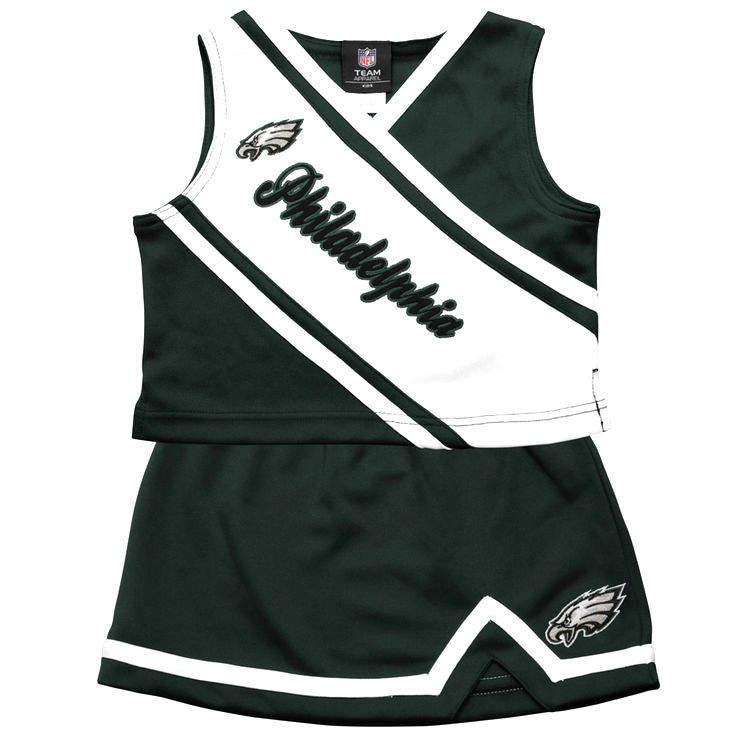 Philadelphia Eagles Preschool Girls 2-Piece Cheerleader Set - Midnight Green - $28.79