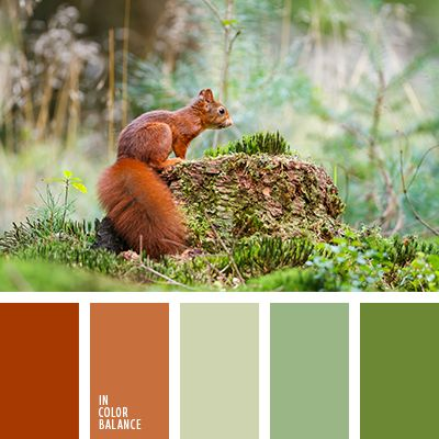 I ❤ colors . . . Color palette № 2107~ Nice range from warm and cold hues, from which breathes freshness and coolness of the forest. Brick and ocher colors in combination with the color of grass and marsh create a harmonious union. Joining a light gray tint neutralizes contrast palette. This color scheme can buy decorative items for the home - bright pillows, vases made of blown glass flower pots.