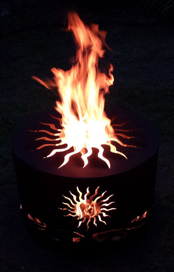 A medida celta Sun Fire Pit  Patio calentador  Camping
