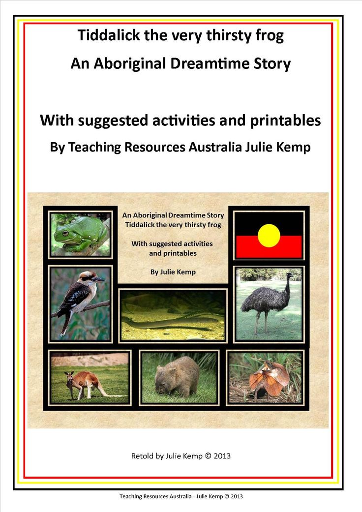 Tiddalick Dreamtime story and activities 2015 dbt pic 1