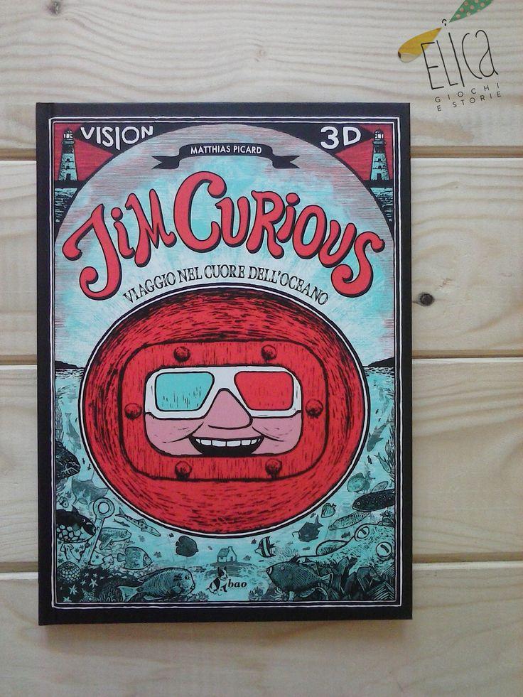 """""""Jim Curious. Viaggio nel cuore dell'oceano"""", di Matthias Picard, Bao Publishing. Libro in 3D, oceani e mari."""
